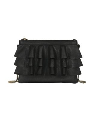 Jet Black Bruffle Sling Bag