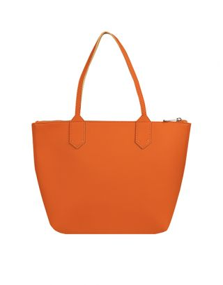 Faux Leather Tan Tote Bag