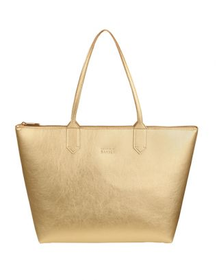Gold yellow small tote bag