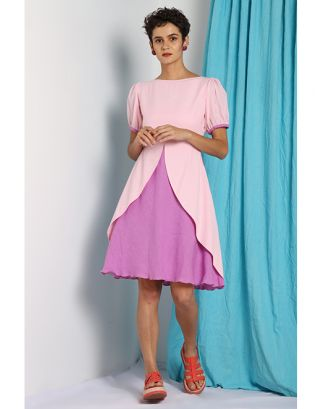 Baby Pink Umbrella Fall Dress