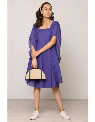 Blue Designer Sleeve Dress