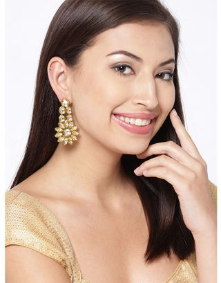 Golden Classic Kundan Earrings