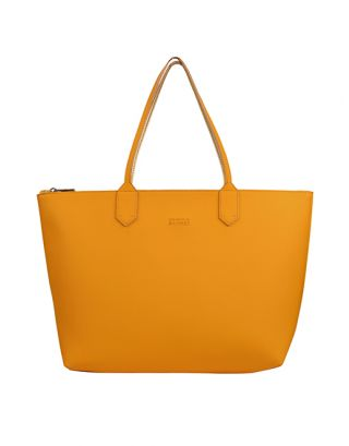 Musatrd yellow small tote bag