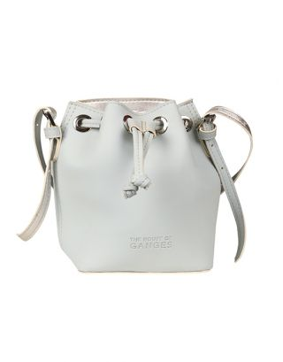 Ice blue bucket bag