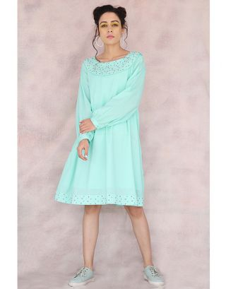 Turquoise Dana Moti Dress