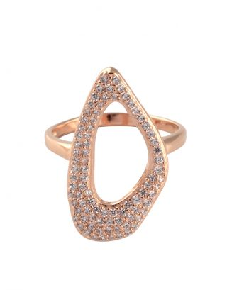 Rose Gold Zircon Unique Ring