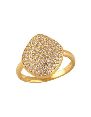 Gold Zircon Classic Ring
