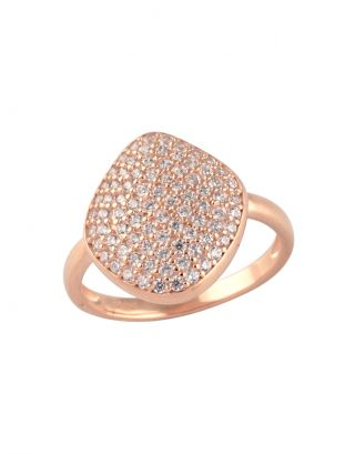 Rose Gold Zircon Classic Ring