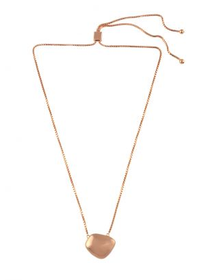 Rose Gold Plated Pendant Necklace