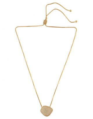 Gold Zircon Pendant Necklace