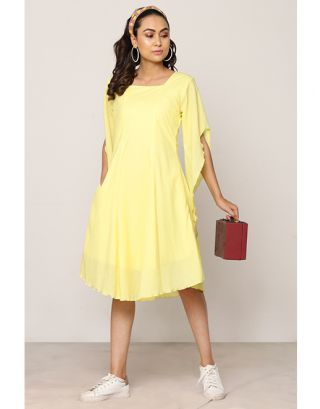 Yellow Designer Sleeve Dress