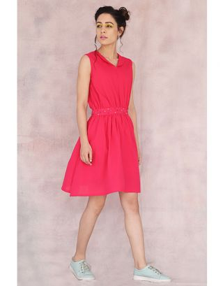Fuschia Skater Dress