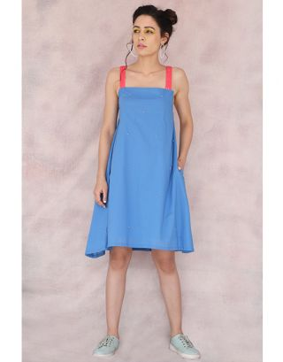 Blue Spaghetti Dress