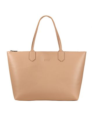 Nude small tote bag