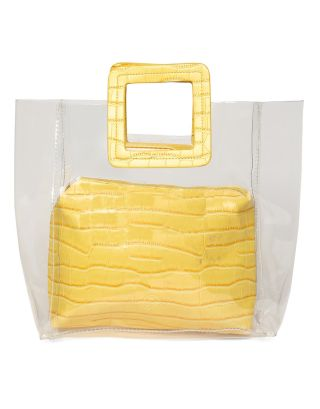 Yellow PVC and PU Hand Bag