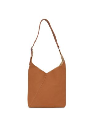 Brown Swede Shoulder Bag