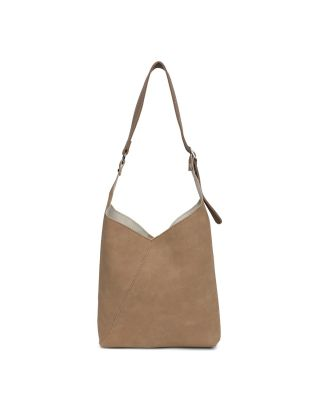 Khakhi Swede Shoulder Bag