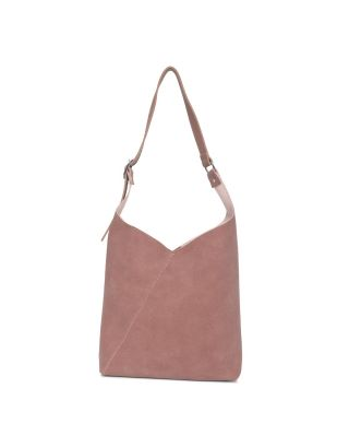 Pink Swede Shoulder Bag