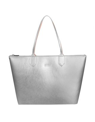 Silver small tote bag
