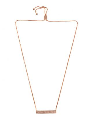 Rose Gold Zircon Necklace