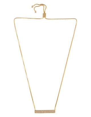 Gold Zircon Necklace