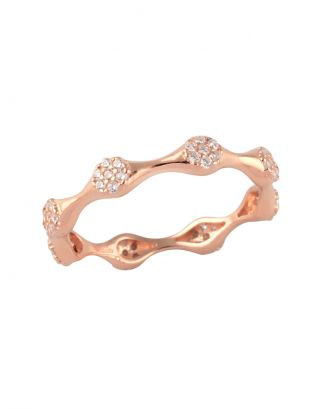 Rose Gold Zircon Ring