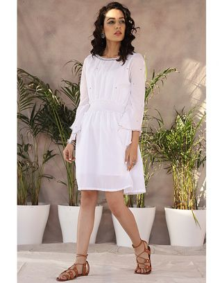 White Embroidery Tunic