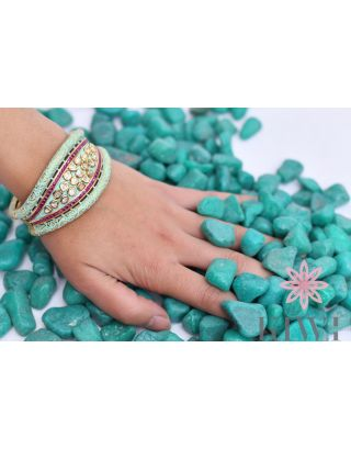 Mint And Gold Bracelet