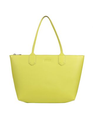 Lime green small tote bag
