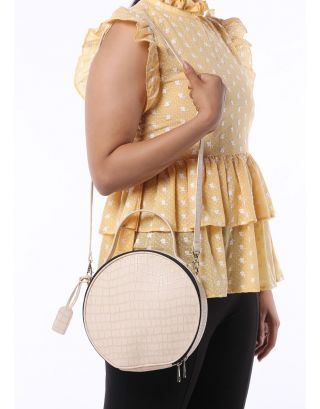Nude Round Handle Bag