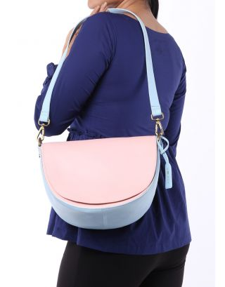 Pastel Color Blocked Shoulder Bag