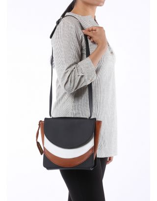 Colour Blocked Shoulder Bag