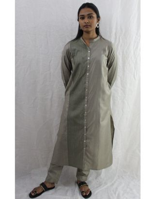 Subtle Grey Cotton Kurti