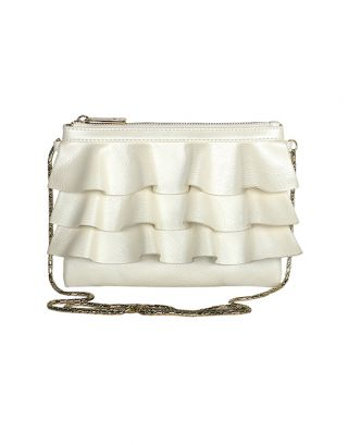 White Bruffle Sling Bag