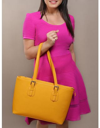 Yellow Penrose Tote Bag
