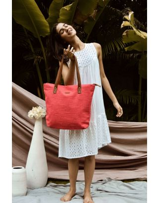 Cherry red tote