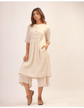Cream Kurta Set