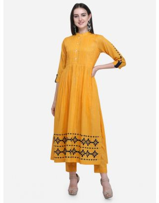 Yellow Gathered Dress