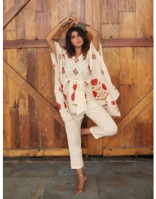 Cream Kaftan with Pants