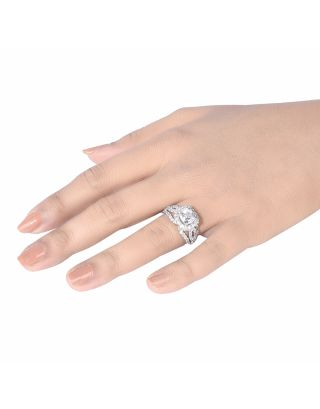Square Wavy Diamond Ring