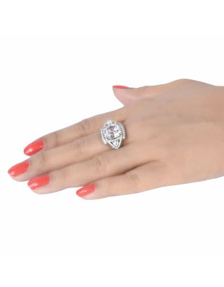 Princess Cut Triangle Diamonds Ring
