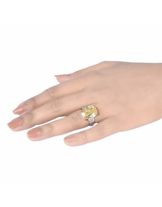 Yellow Radiant Sapphire Ring