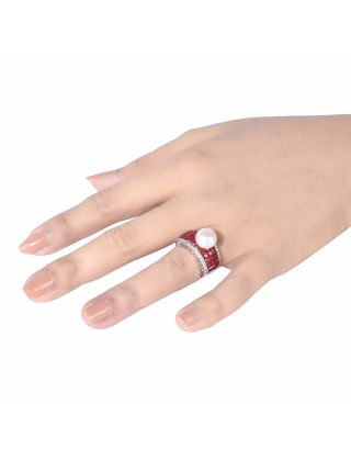 Red Pearl Ring