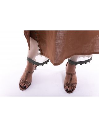 Brown Glass Hem Trouser