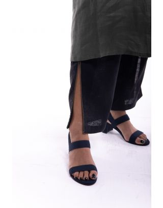Black Side Slit Trouser