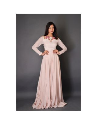 Baby Pink Flaired Gown