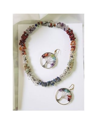 Multicolor Stone Necklace Set