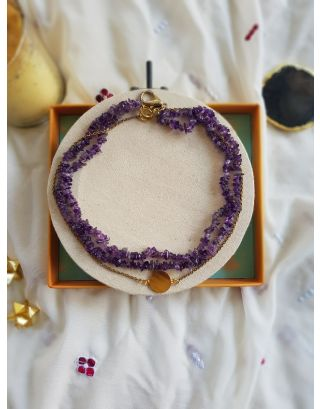 Violet Coin Necklace