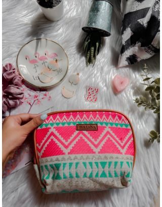 Neon Pink Maxi Pouch