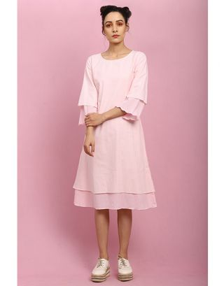 Baby Pink Double Layer Dress